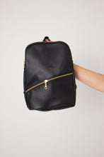 Load image into Gallery viewer, Panha Mini Backpack in Black - Reclaimed Vegan Leather