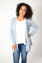 Load image into Gallery viewer, Sky Striped Waterfall Cardigan Top