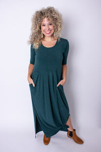 Forest Green Empire Maxi Dress