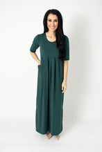 Load image into Gallery viewer, Forest Green Empire Maxi Dress