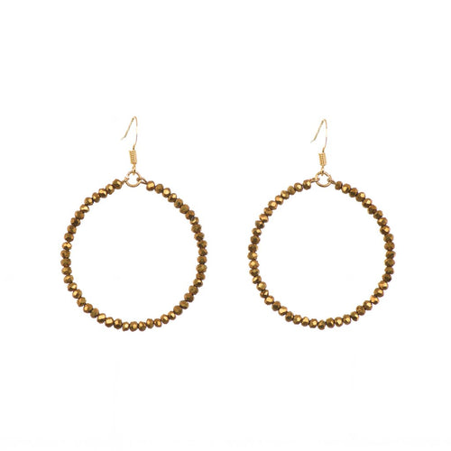 Eternity Hoop Earrings in Bronze