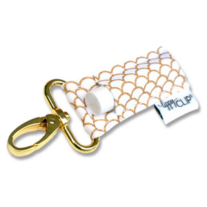 LippyClip® The Original Lip Balm Holder -  Gold & White Mermaid Scales
