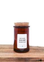 Load image into Gallery viewer, Mini Amber Glass Soy Candle 4oz  - Goods that Empower