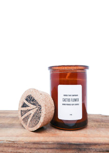 Mini Amber Glass Soy Candle 4oz  - Goods that Empower