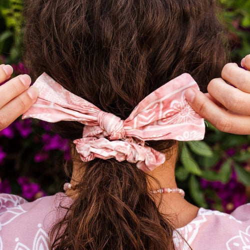 Printed Bow Scrunchie