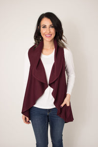 Berry Circle Wrap Vest