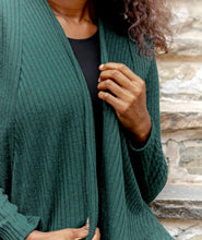 Load image into Gallery viewer, Javits Ribbed Cardigan in Hunter Green