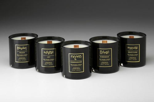 Premium Burmese Glass Candles