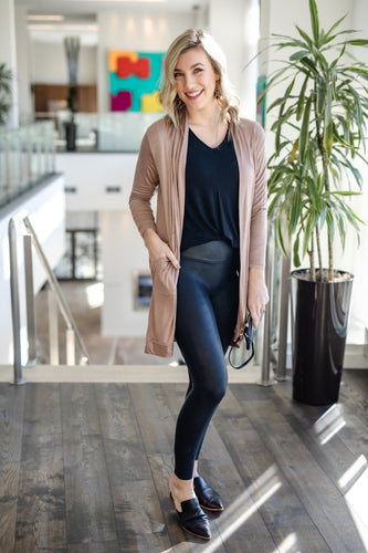 Champagne Tan Open Cardigan