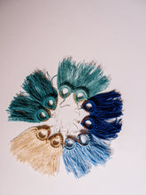 Load image into Gallery viewer, Pine Needle & Thread Fringe Earrings - Various Colors