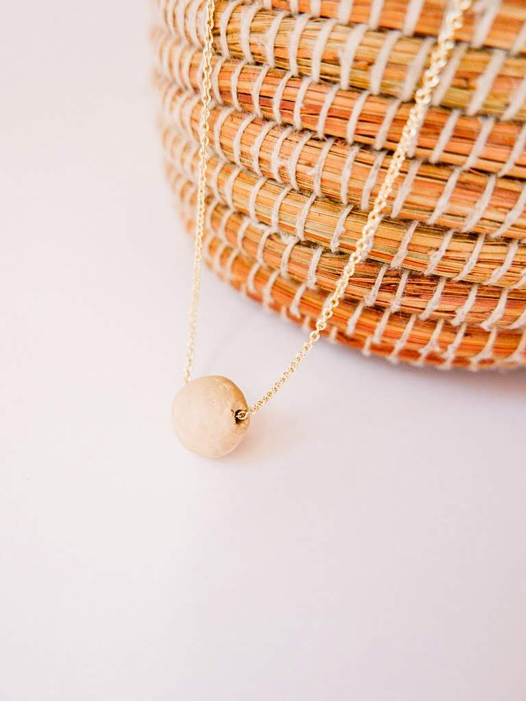 Pearl of the Mountain Clay Bead Necklace