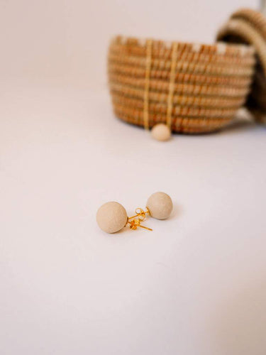 Pearl of the Mountain Clay Bead Stud Earrings