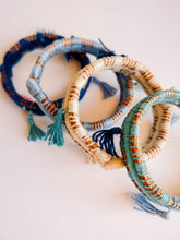 Load image into Gallery viewer, Pine Needle & Thread Bangle Bracelet - Various Colors