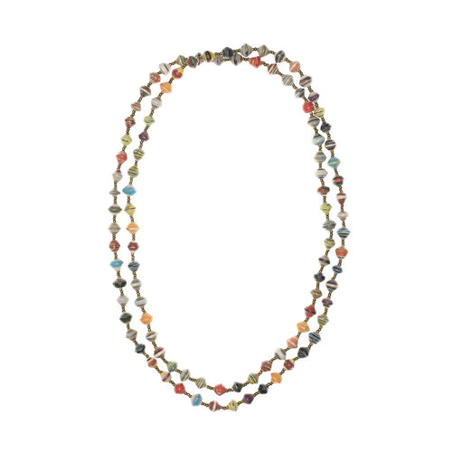 Niyee Extra Long Paper Bead Necklace