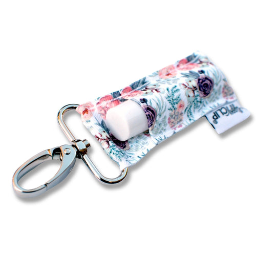 LippyClip® The Original Lip Balm Holder -  Purple & Coral Floral