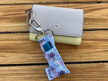 Load image into Gallery viewer, LippyClip® The Original Lip Balm Holder -  Purple & Coral Floral
