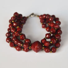 Load image into Gallery viewer, Ribbe Paper Bead Bracelet