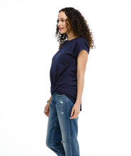 Load image into Gallery viewer, The Sita Knot Twist Top in Navy