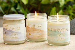 Premium Spa Glass Candles