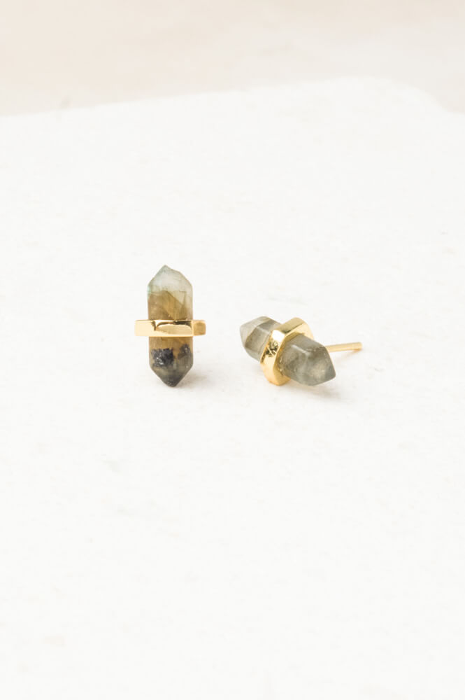 Debra Labradorite Stud Earrings