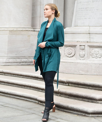 Albright Cardigan in Teal Ocean