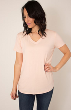 Load image into Gallery viewer, Almost Mauve V-Neck T-Shirt Top