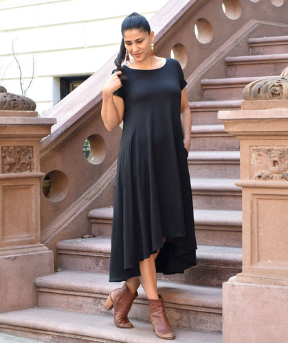 The Erica Swing Dress in Black
