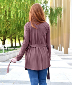 Albright Cardigan in Brunette