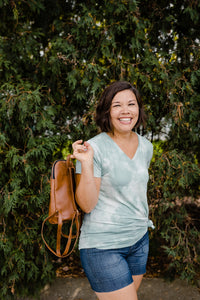 Panha Mini Backpack in Brown - Reclaimed Vegan Leather