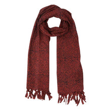 Load image into Gallery viewer, Cranberry Tassel Scarf