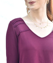 Load image into Gallery viewer, The Amal Tunic in Deep Currant