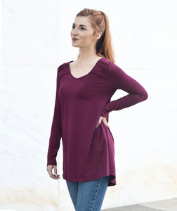 The Amal Tunic in Deep Currant