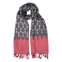 Load image into Gallery viewer, Pink & Gray Tassel Scarf