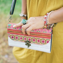 Load image into Gallery viewer, The Jasmine Embroidered White Crossbody Purse