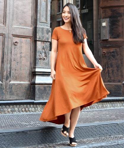 The Erica Swing Dress in Copper