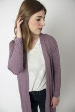 Load image into Gallery viewer, Wisteria Purple Open Knit Cardigan