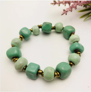 Simple Ceramic Clay Bracelet - Various Colors