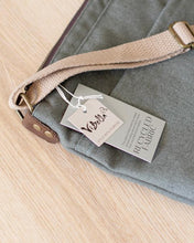 Load image into Gallery viewer, Julia Green Canvas Crossbody Bag
