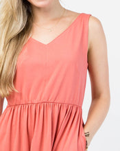 Load image into Gallery viewer, The Harper Tank Dress with Pockets in Coral