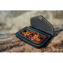 Load image into Gallery viewer, The Marigold Embroidered Black Mini Coin Purse - Various Colors
