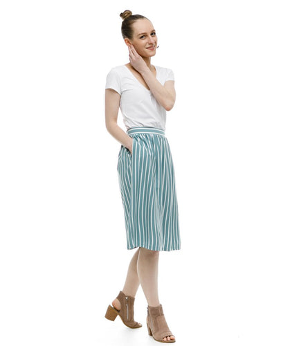 Shelby Skirt in Pacific Stripe