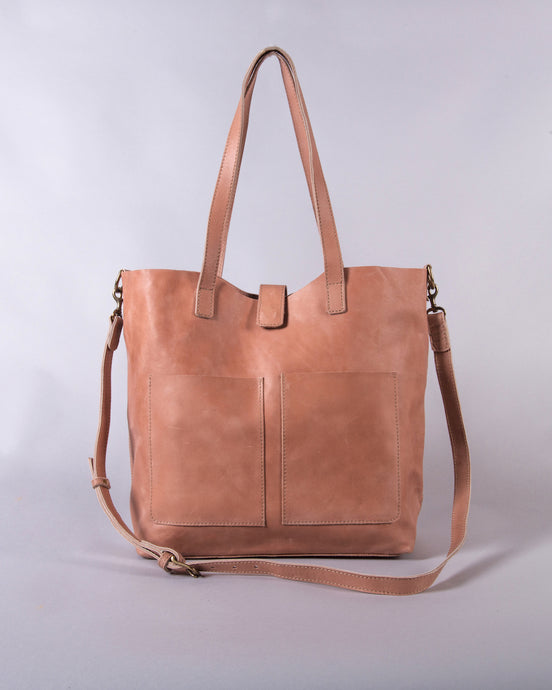 The Siiqqee Large Tote Bag in Dusty Rose