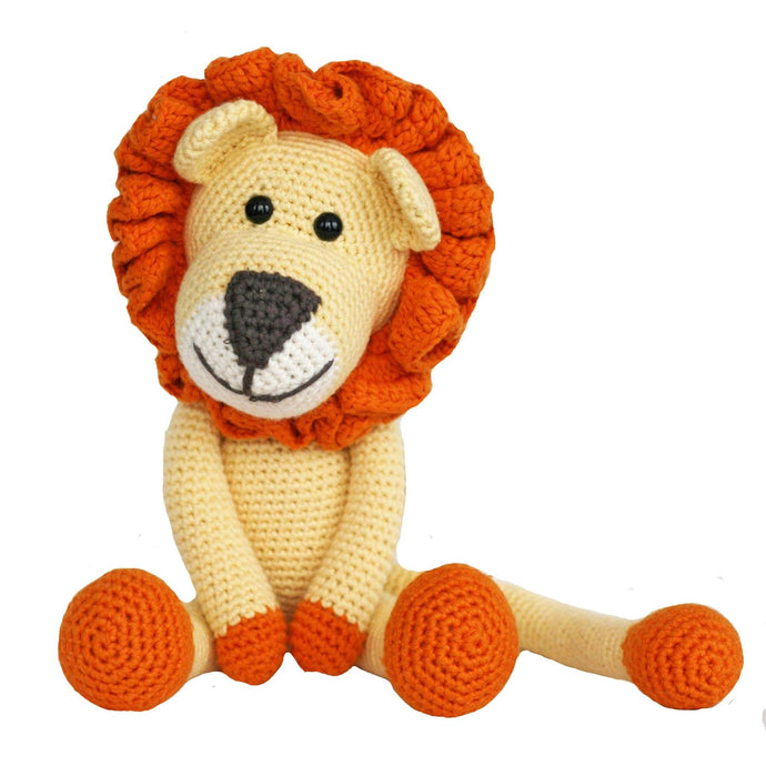 Leo the Lion Crocheted Organic Cotton Stuffed Animal