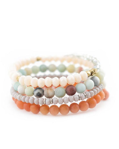 Lynn Layered-Look Wrap Bracelet with Semiprecious Natural Stones