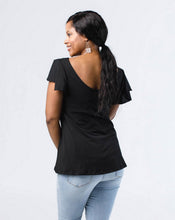 Load image into Gallery viewer, The Maeve Flutter Sleeve Top in Black