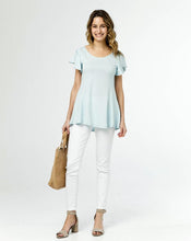 Load image into Gallery viewer, [Imperfect Pick] The Maeve Flutter Sleeve Top in Blue