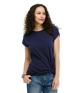 The Sita Knot Twist Top in Navy