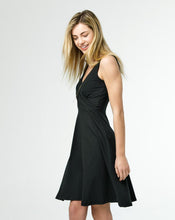 Load image into Gallery viewer, The Nora Faux-Wrap Dress in Black