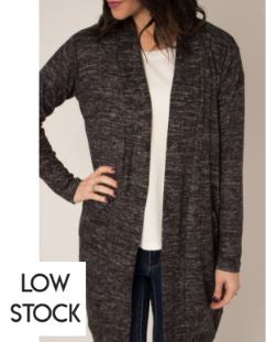Gray Peppercorn Open Knit Cardigan