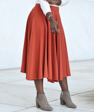 Load image into Gallery viewer, Malala Midi Skirt in Pumpkin Spice